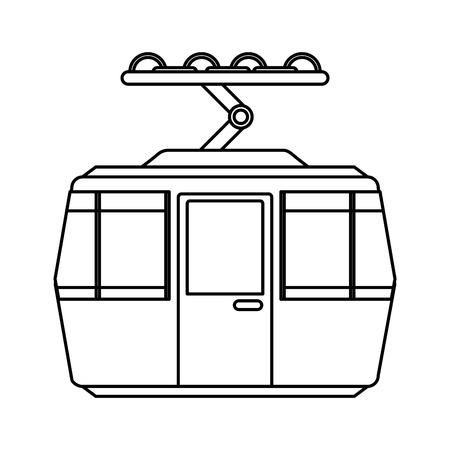 Illustration for cableway transport isolated icon vector illustration design - Royalty Free Image