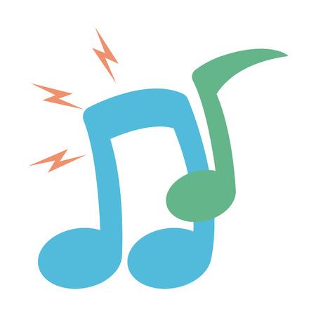 Ilustración de note musical icon on white background vector illustration - Imagen libre de derechos