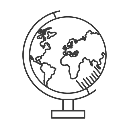 Illustration for school globe map on white background vector illustration design - Royalty Free Image