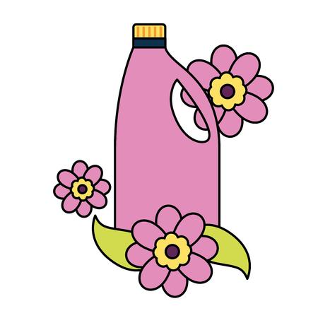 Illustration pour detergent bottle spring cleaning tools vector illustration - image libre de droit