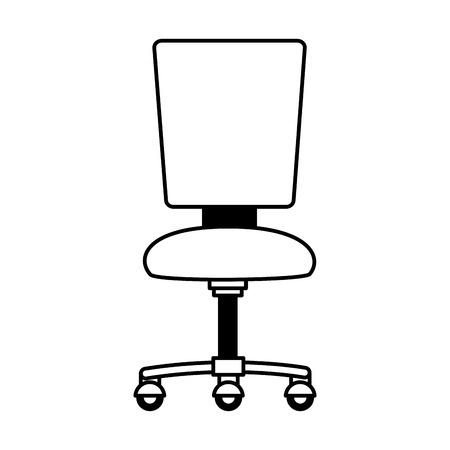 Ilustración de office chair furniture on white background vector illustration - Imagen libre de derechos