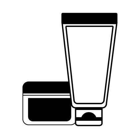 Ilustración de cosmetic lotion cream skin care vector illustration design - Imagen libre de derechos