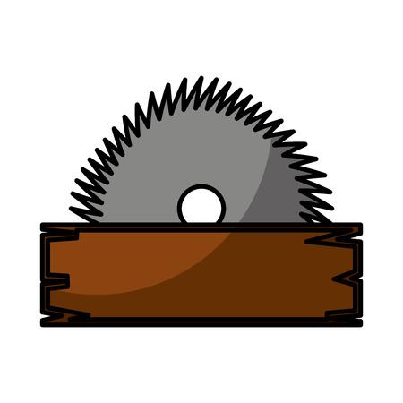 Illustration pour electric saw tool icon vector illustration design - image libre de droit