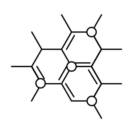 Illustration pour molecular structure science icon vector illustration design - image libre de droit