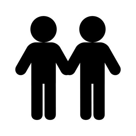 Illustration pour couple diversity lgbt pride love vector illustration - image libre de droit