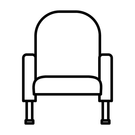 Ilustración de armchair furniture comfort on white background vector illustration - Imagen libre de derechos