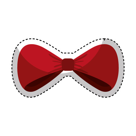 Illustration for bowtie elegant isolated icon vector illustration design - Royalty Free Image