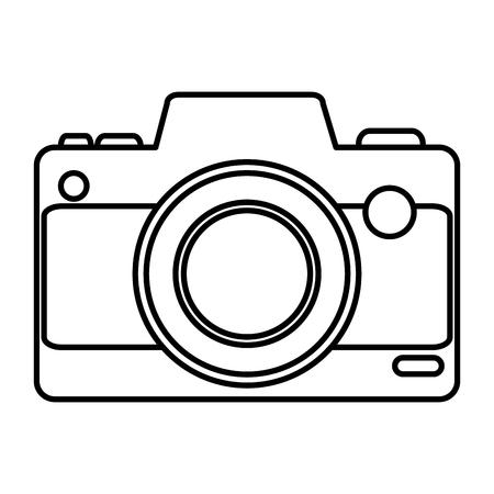 Ilustración de camera photographic device icon vector illustration design - Imagen libre de derechos