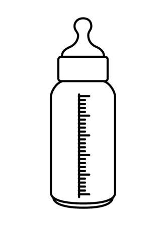 Ilustración de bottle milk baby isolated icon vector illustration design - Imagen libre de derechos