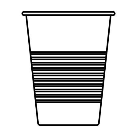 Ilustración de disposable cup material icon vector illustration design - Imagen libre de derechos