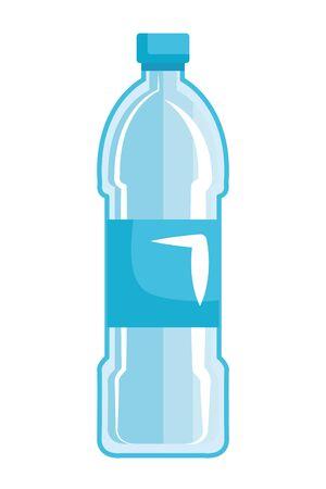 Ilustración de plastic bottle recycle icon vector illustration design - Imagen libre de derechos