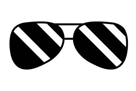 Illustration for sunglasses accessory element icon vector illustration design - Royalty Free Image
