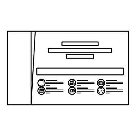 Ilustración de company card publicity icon vector illustration design - Imagen libre de derechos