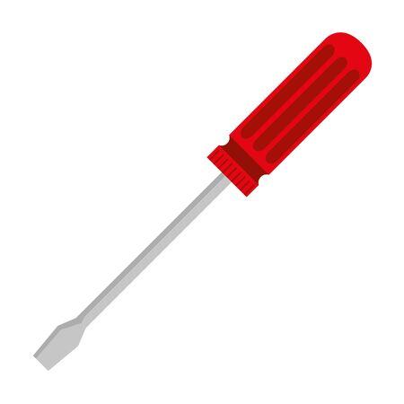 Ilustración de screwdriver metal tool isolated icon vector illustration design - Imagen libre de derechos