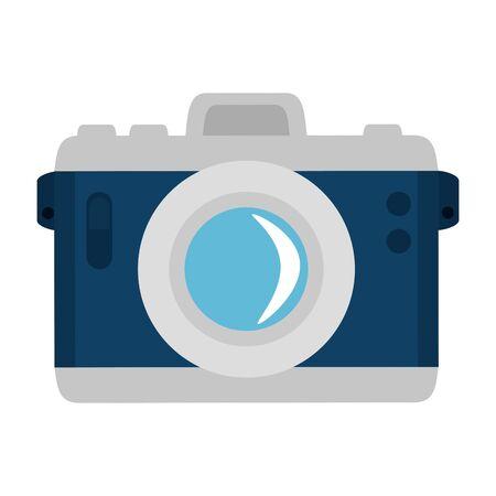 Ilustración de camera photographic device isolated icon vector illustration design - Imagen libre de derechos