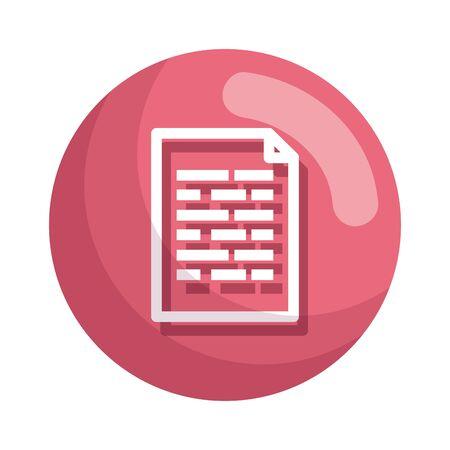 Illustration pour paper document file icon vector illustration design - image libre de droit