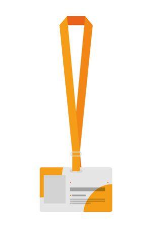 Ilustración de identification badge isolated icon vector illustration design - Imagen libre de derechos