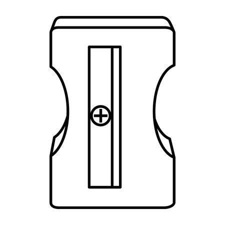 Ilustración de sharpener education supply isolated icon vector illustration design - Imagen libre de derechos