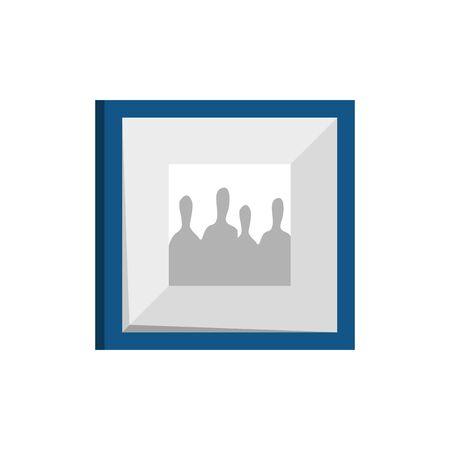 Ilustración de square picture decoration isolated icon vector illustration design - Imagen libre de derechos