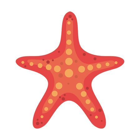 Illustration pour summer starfish animal isolated icon vector illustration design - image libre de droit