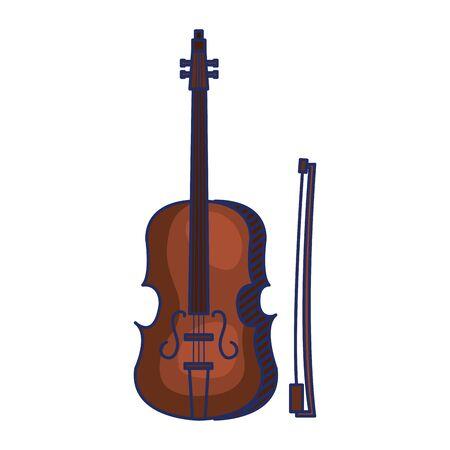 Ilustración de fiddle musical instrument isolated icon vector illustration design - Imagen libre de derechos