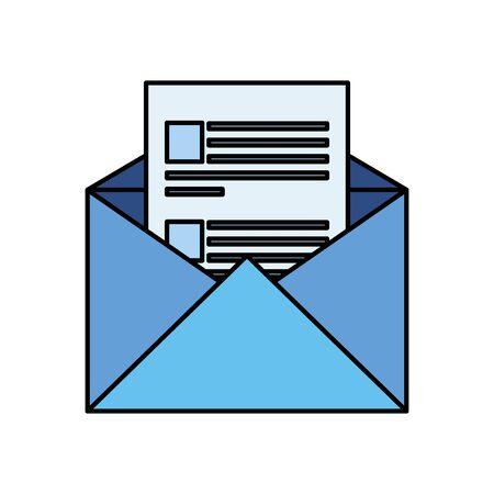Illustration pour envelope mail post isolated icon vector illustration design - image libre de droit