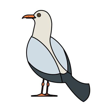 Ilustración de seagull marine animal icon vector illustration design - Imagen libre de derechos