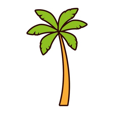 Illustration for palm tree nature tropical on white background vector illustration - Royalty Free Image