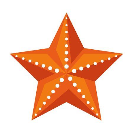 Ilustración de summer shell starfish animal icon vector illustration design - Imagen libre de derechos