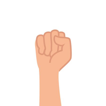 Illustration for hand human fist power icon vector illustration design - Royalty Free Image