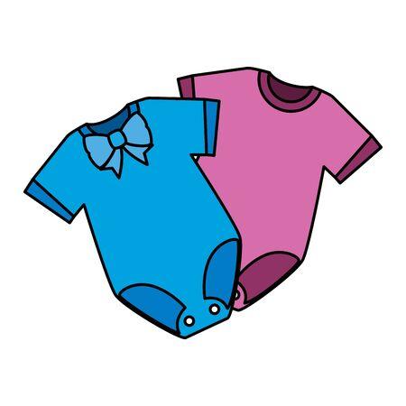 Illustration pour baby clothes fashion isolated icon vector illustration design - image libre de droit