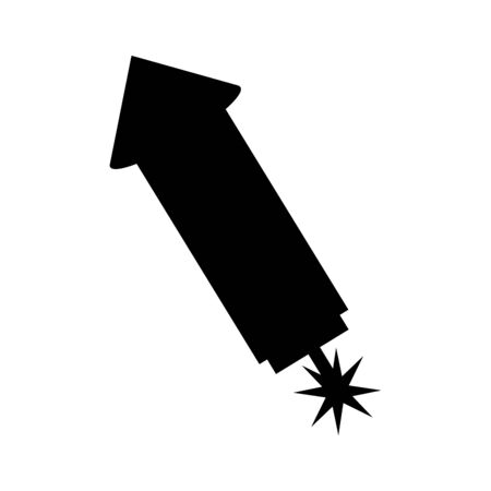 Illustration for rocket firework isolated icon vector illustration design - Royalty Free Image