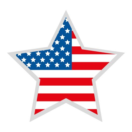 Illustration pour star with united states of america flag vector illustration design - image libre de droit