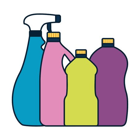 Illustration pour bottlesspray spring cleaning tools vector illustration design - image libre de droit