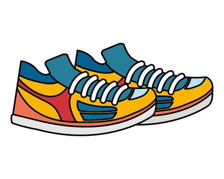Ilustración de tennis sport shoes footwear accessory vector illustration design - Imagen libre de derechos