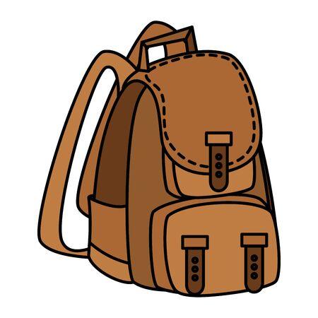 Illustration pour camping travel bag accessory icon vector illustration design - image libre de droit
