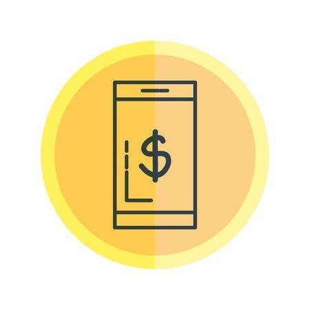 Illustration pour smartphone with dollar symbol vector illustration design - image libre de droit