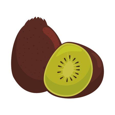 Illustration for kiwi icon graphic design vector illustration - Royalty Free Image