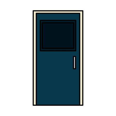 Illustration for wooden house door closed icon vector illustration design - Royalty Free Image