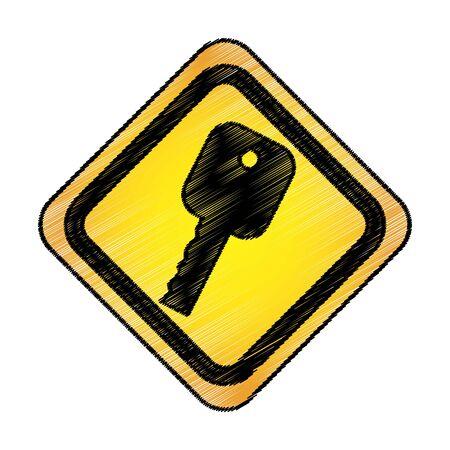 Ilustración de key car isolated icon vector illustration design - Imagen libre de derechos