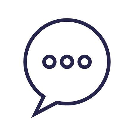 Ilustración de speech bubble message isolated icon vector illustration design - Imagen libre de derechos