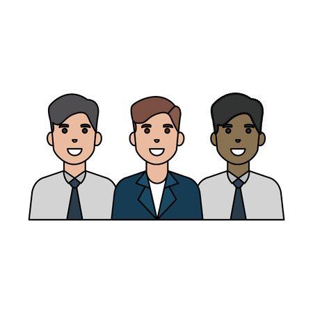 Illustration pour Avatar men design, Boys males friends person and human theme Vector illustration - image libre de droit