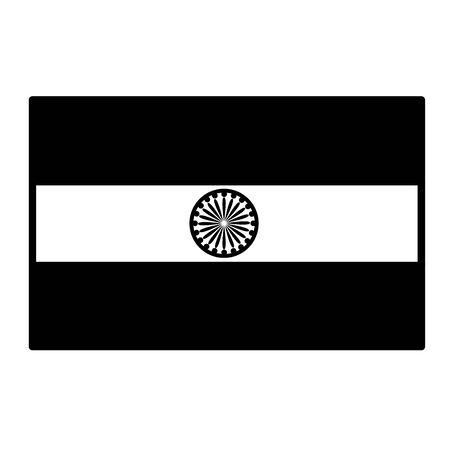 Illustration pour indian flag independence day icon vector illustration design - image libre de droit