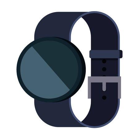Illustration pour smartwatch weareable technology device vector illustration design - image libre de droit