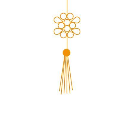 Illustration pour chinese mandala decorative hanging icon vector illustration design - image libre de droit