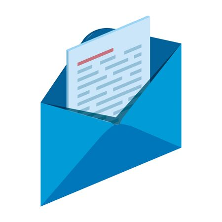 Illustration pour envelope mail send isolated icon vector illustration design - image libre de droit