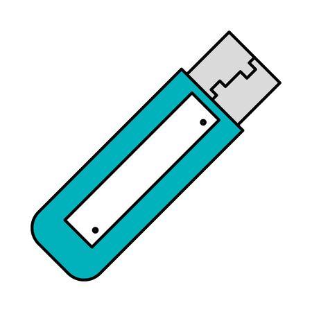 Ilustración de usb memory flash icon vector illustration design - Imagen libre de derechos