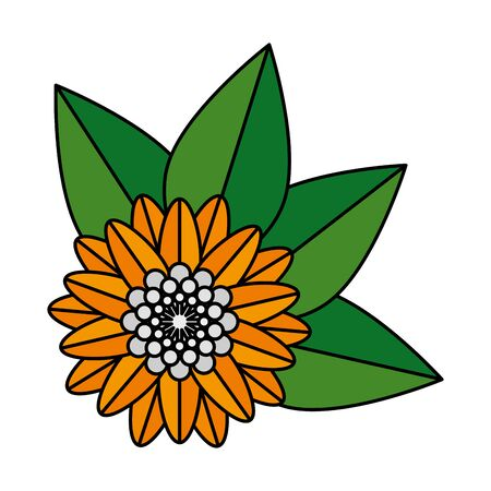 Illustration pour flower hindu decorative isolated icon vector illustration design - image libre de droit
