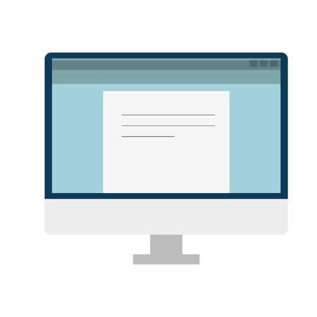 Illustration pour desktop computer portable device icon vector illustration design - image libre de droit