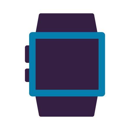Illustration pour smart watch on white background vector illustration - image libre de droit